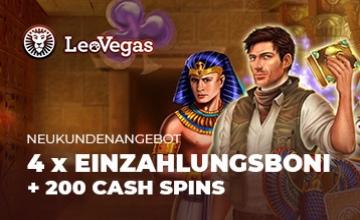 Leo Vegas - Jetzt Bonus sichern!