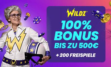 Wildz - Jetzt Bonus sichern!